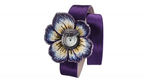 Sicis O'Clock_Watch Violet Gardenia (Satin)_open__limited edition 10 pieces