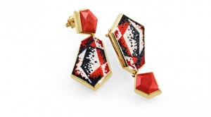 Cubista earring designed by Roger Thomas for SICIS Jewels