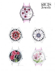 Draft Flowers by SICIS Jewels