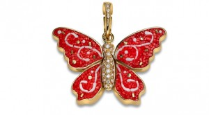 SICIS Jewels Butterfly charm with diamonds Limited Edition - Milan