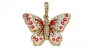 SICIS Jewels Butterfly charm with diamonds Limited Edition - Paris