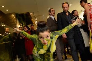 SICIS Le bois vivant event - bodypainting performance