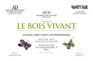 SICIS invitation LE BOIS VIVANT