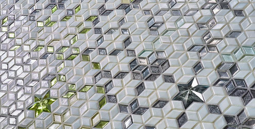 diamond tiles mosaic