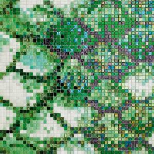 green tesserae sicis mosaic interiordesign