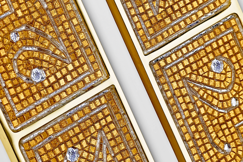 new door mosaic gold