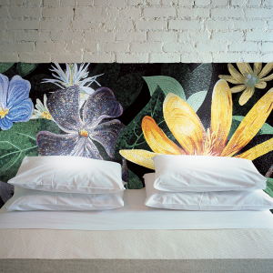 bedroom sicis mosaic flower
