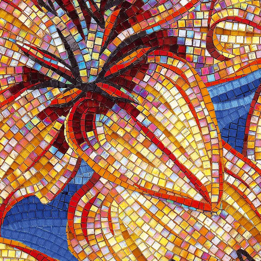 color mosaic flower tropical  inteirordesign
