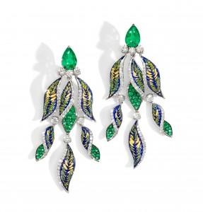 Fern jewelry parure mosaic