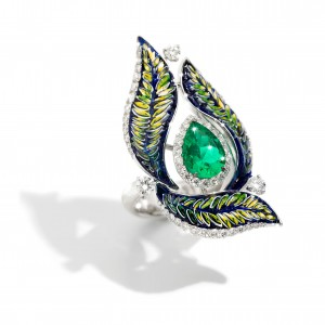 ring green luxury diamond mosaic gold