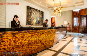 reception design mosaic hotel