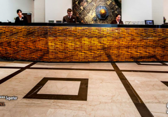 mosaic couch table design luxury hotel