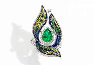 ring green sicis mosaic luxury jewelry