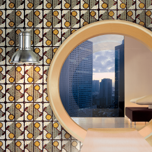pattern glass mosaic new york home apartment
