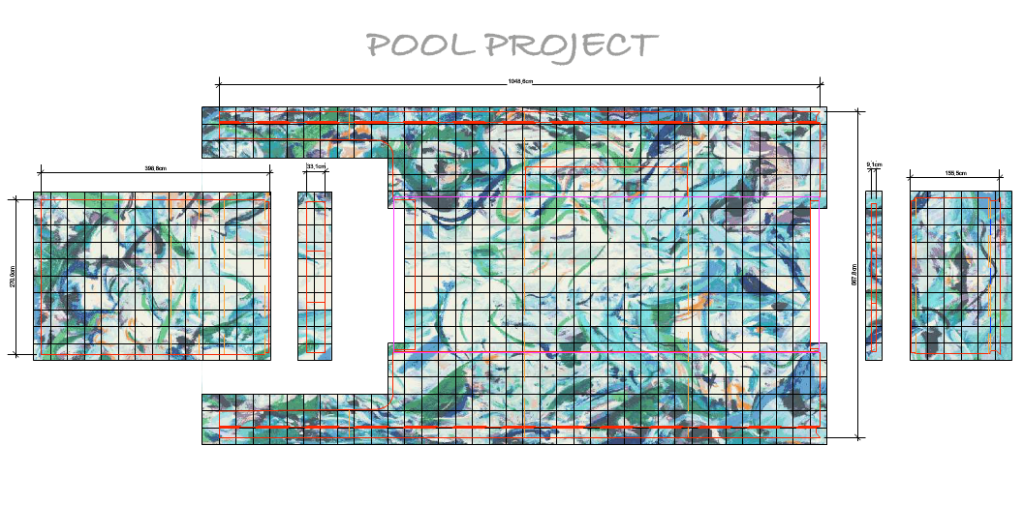 pool yacht mosaic pattern