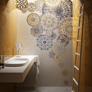 cersaie glass mosaic bathroom