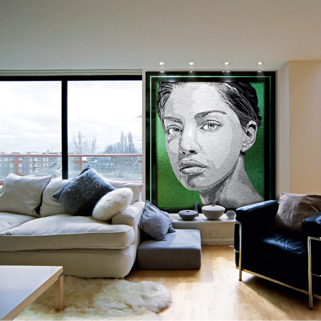 mosaic sicis portrait interiordesign