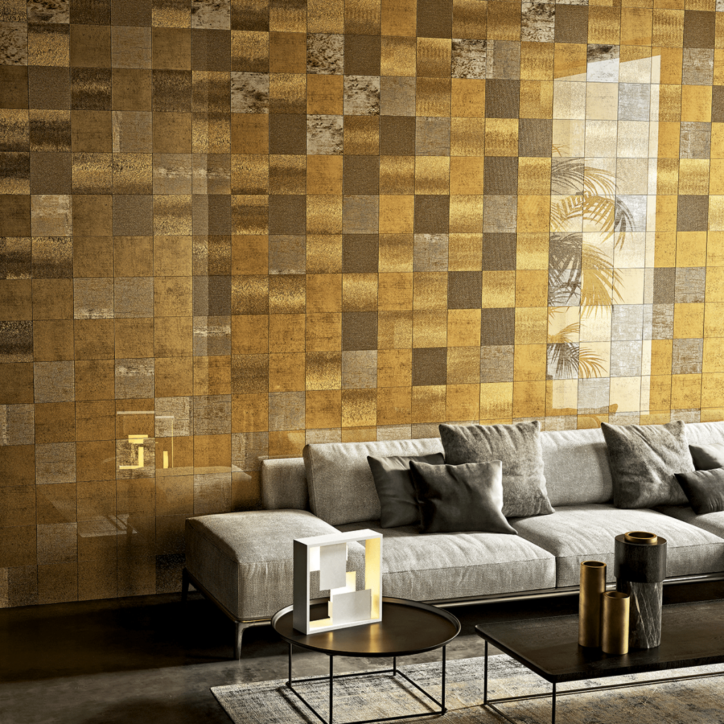 sicis vetrite gold surface interiordesign