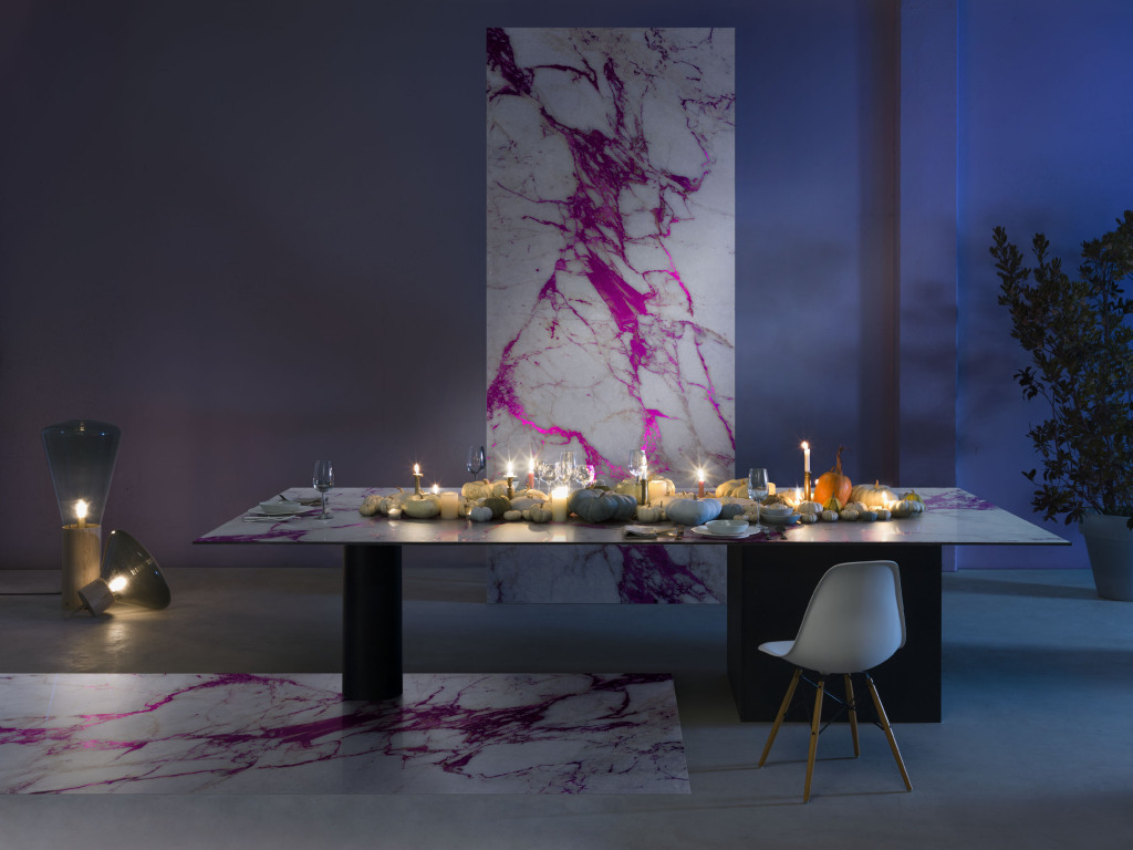 sicis marble electric color interior design