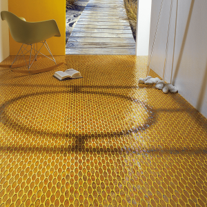 yellow trend color mosaic interior design
