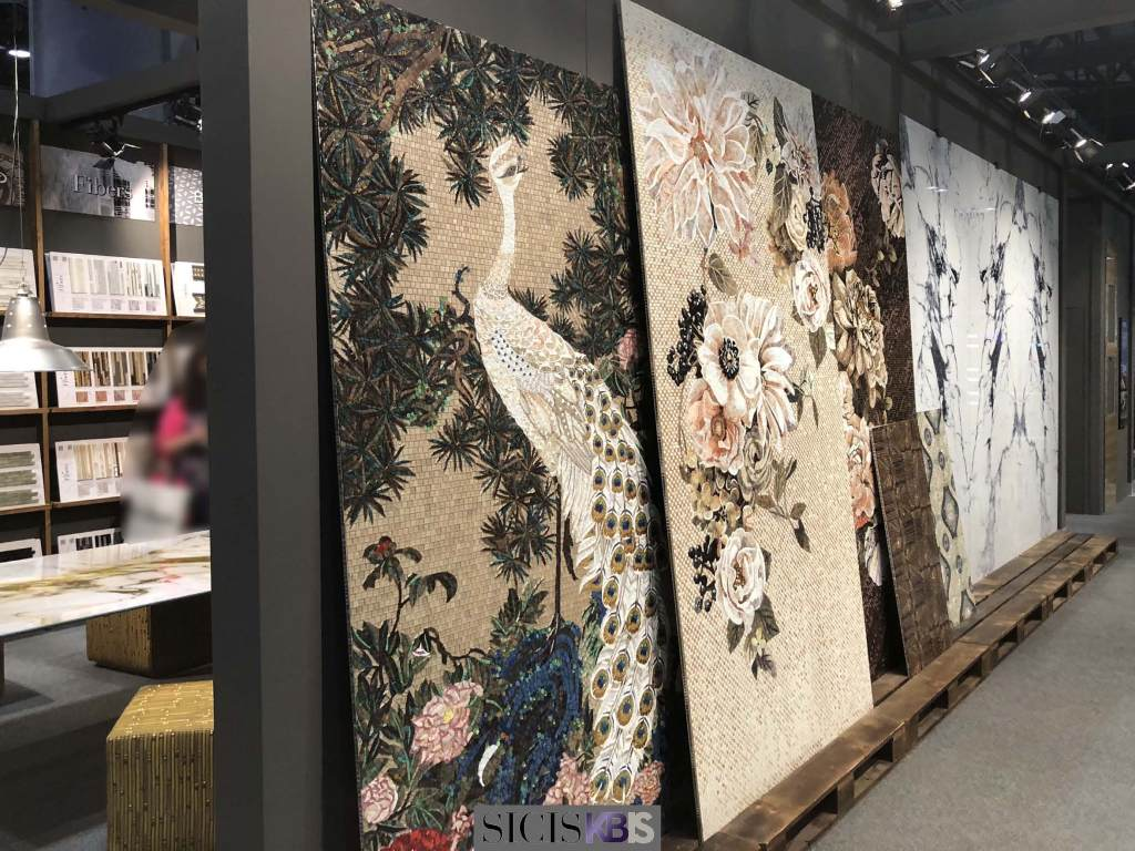 sicis kbis 2018 mosaic surface interior design