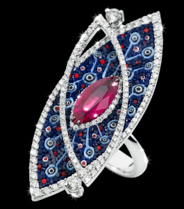 RN 97 Arabesque Ruby Ring SDW1 BLACK