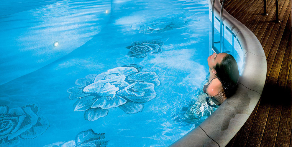 glass mosaic pool
