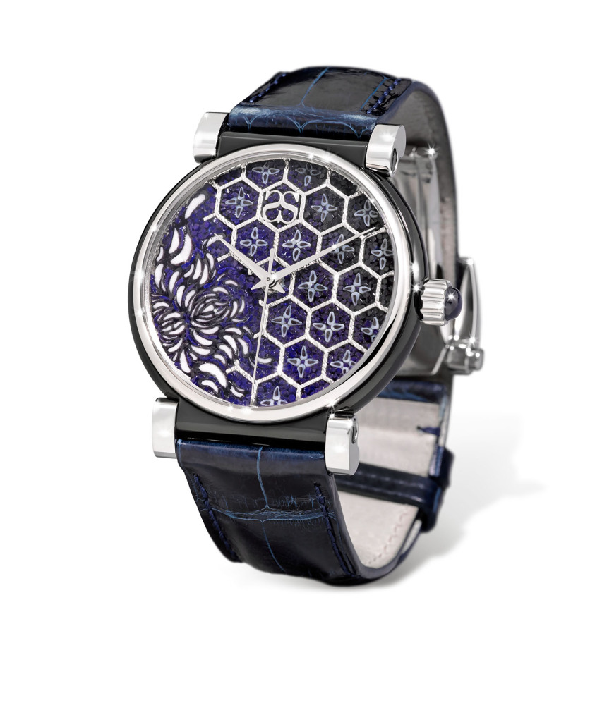 sicis jewelry micromosaic gold watch