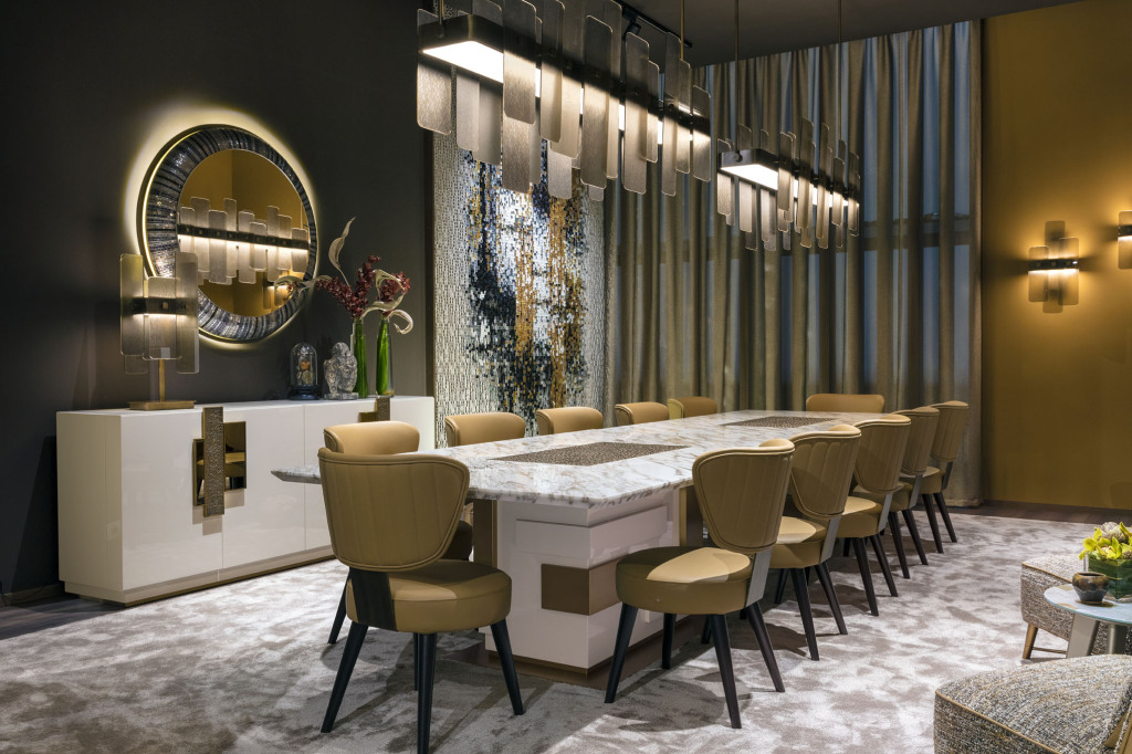 Sicis Salone Mobile 2018 dining room
