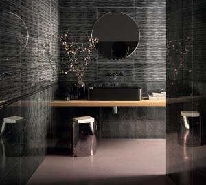 Fuliggine & Feather Black Tile AMB1